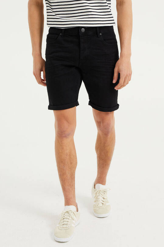 Heren denimshort Zwart