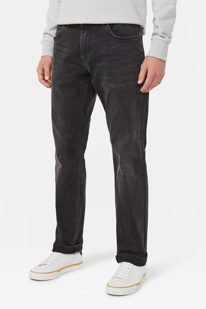 Heren relaxed tapered stretch jeans Zwart