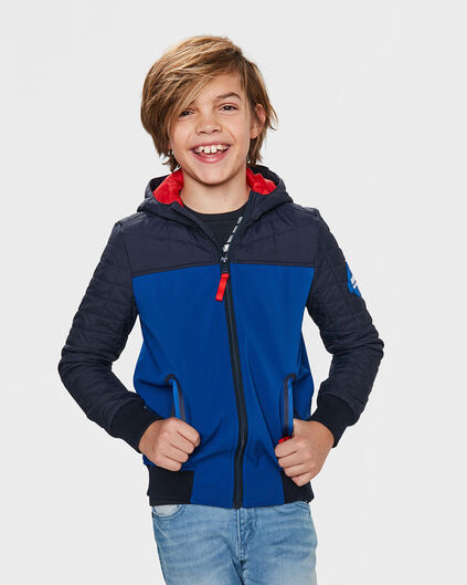 JONGENS BAD BOYS HOODED JACKET Blauw