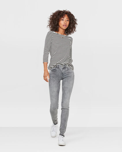 DAMES MID RISE SUPER SKINNY HIGH STRETCH JEANS Grijs