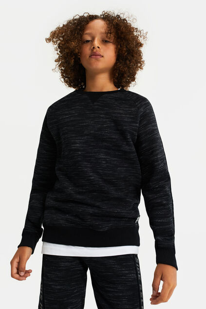 Jongens sweater met tapedetail Zwart
