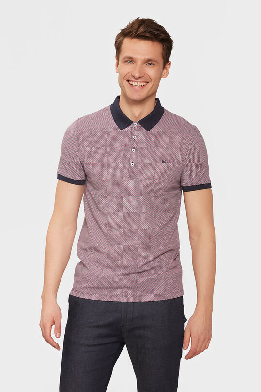HEREN GRAPHIC PRINT POLOSHIRT Bordeauxrood