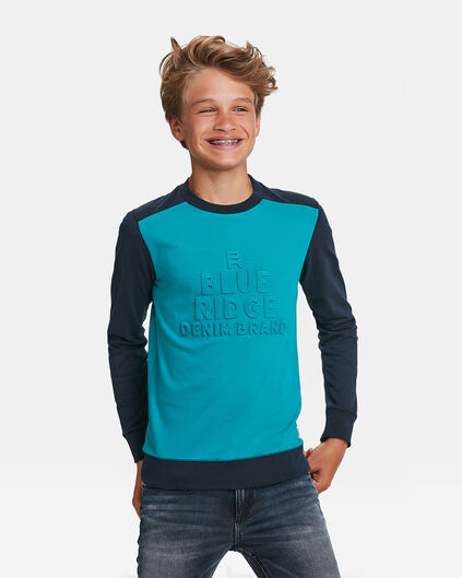 JONGENS BLUE RIDGE LOGOPRINT T-SHIRT Felblauw