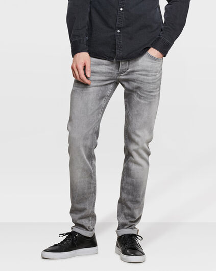 HEREN SKINNY TAPERED SUPER STRETCH JOG DENIM Grijs