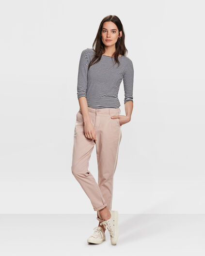 DAMES RELAXED FIT CHINO BROEK Zalmroze
