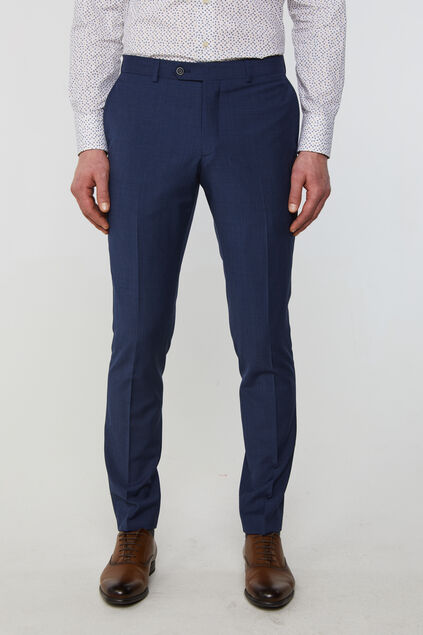 Heren slim fit pantalon met dessin Amadeo Donkerblauw