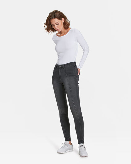 DAMES HIGH RISE SUPER SKINNY PINTUCK JEANS Grijs
