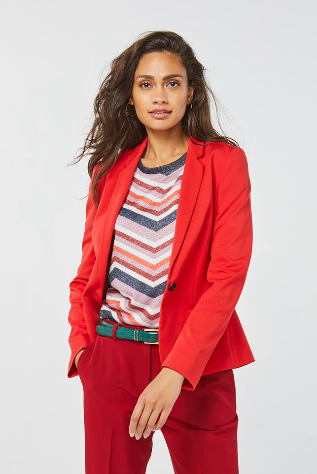 Dames regular fit blazer Felrood