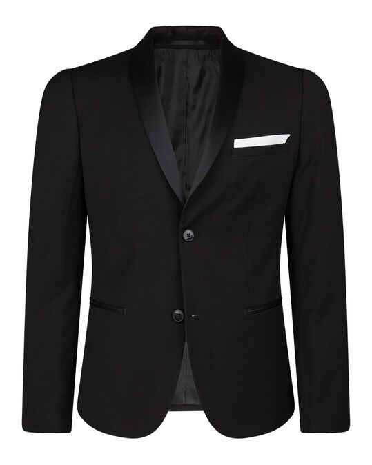 HEREN SKINNY FIT SMOKING BLAZER DALI Zwart