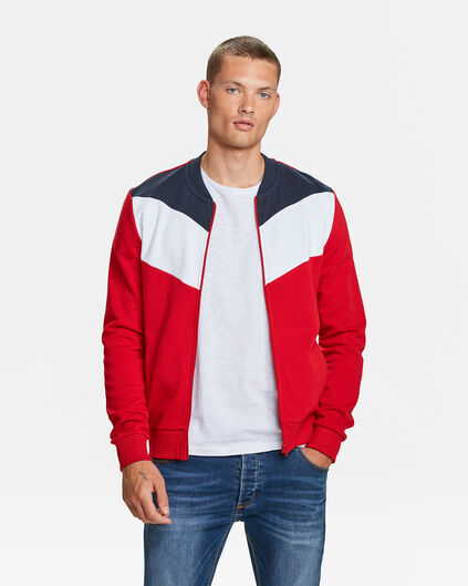 HEREN COLOUR BLOCK SWEAT BOMBER Felrood