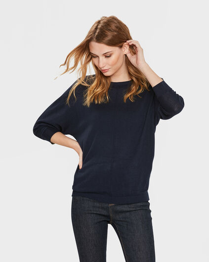 DAMES OVERSIZED KNIT TRUI Donkerblauw