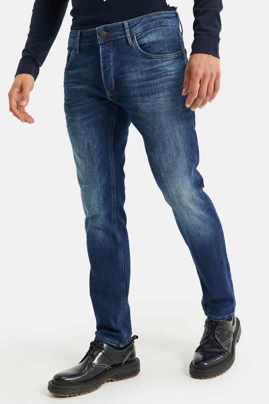 Heren slim fit jeans van jog denim Donkerblauw