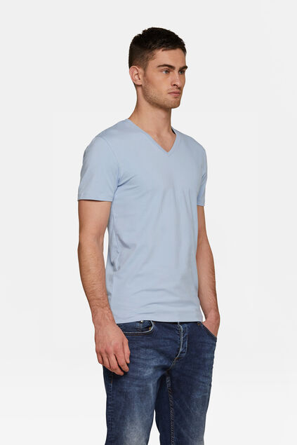 HEREN ORGANIC COTTON T-SHIRT Lichtblauw