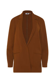 Dames regular fit blazer_Dames regular fit blazer, Cognac
