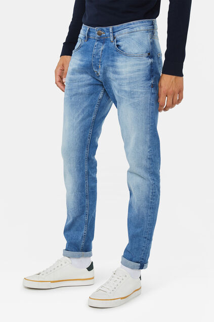 Heren slim tapered stretch jeans Lichtblauw