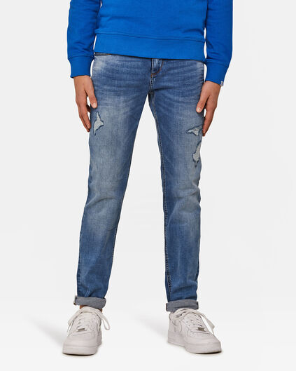 JONGENS SLIM FIT JOG DENIM Blauw