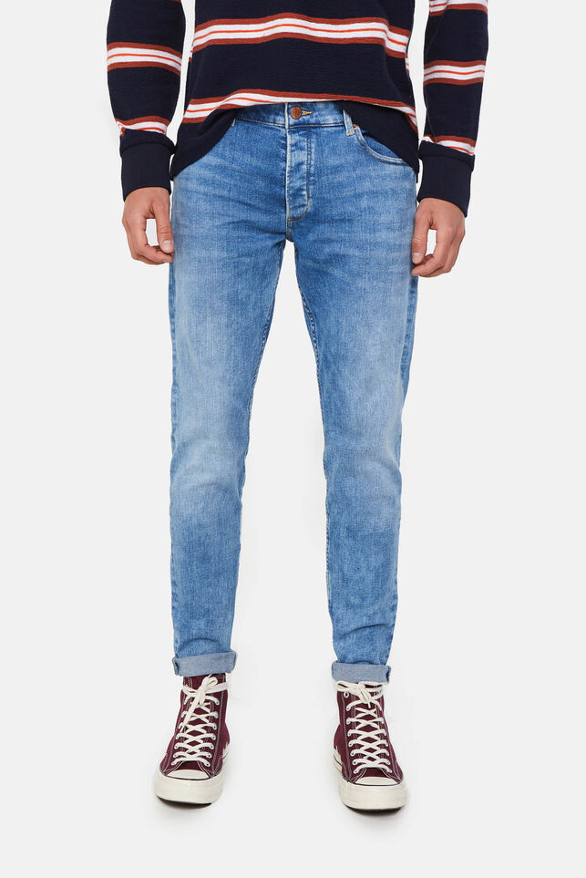 Heren skinny fit jeans Blauw