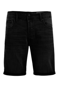 Heren denimshort_Heren denimshort, Zwart