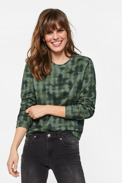 Dames sweater met tie-dyeprint All-over print