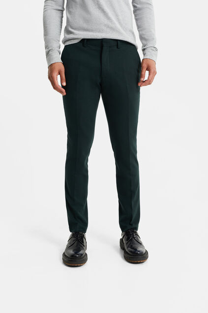 Heren slim fit pantalon met stretch, Dali Groen
