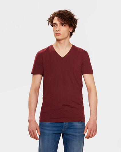 HEREN ORGANIC COTTON T-SHIRT Roestbruin