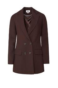 Dames regular fit blazer_Dames regular fit blazer, Bruin