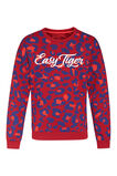 Meisjes easy tiger sweater, Donkerrood