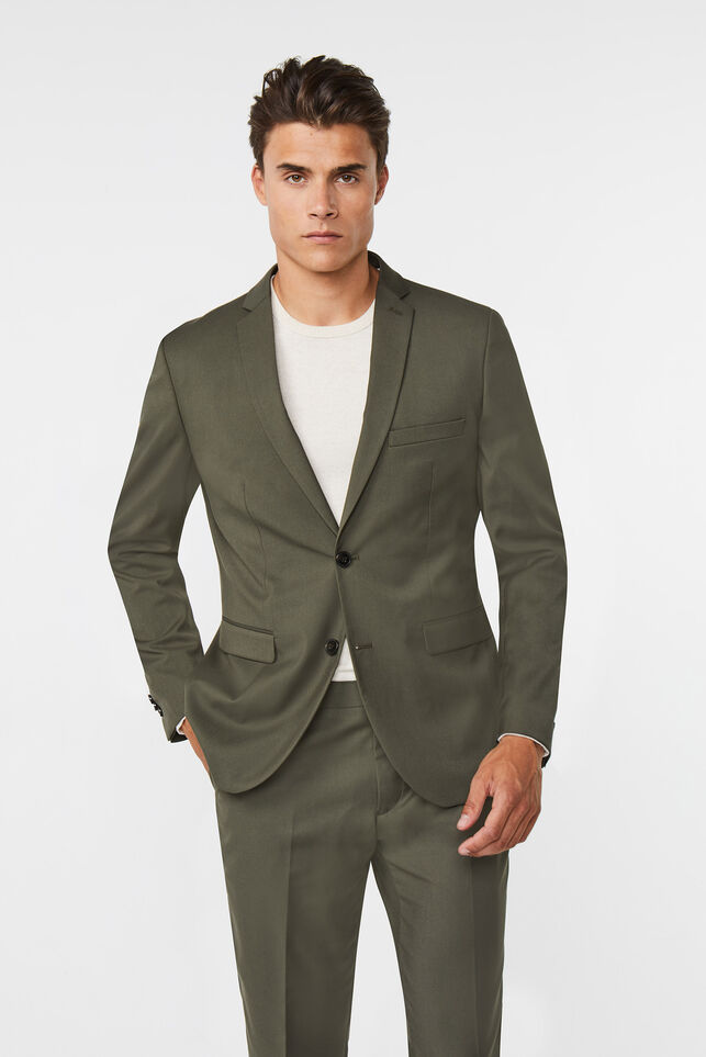 Heren regular fit blazer Dali Donkergroen