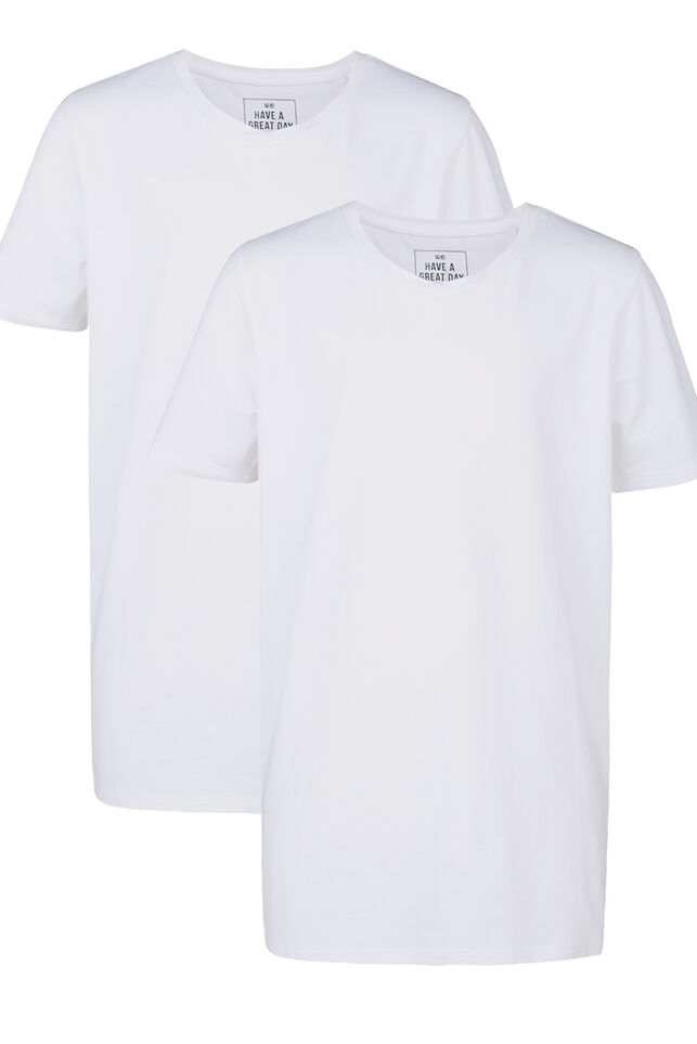 Jongens basic T-shirt, 2-pack Wit