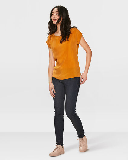 DAMES MID RISE SKINNY HIGH STRETCH JEANS Donkerblauw