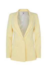 Dames regular fit blazer_Dames regular fit blazer, Lichtgeel