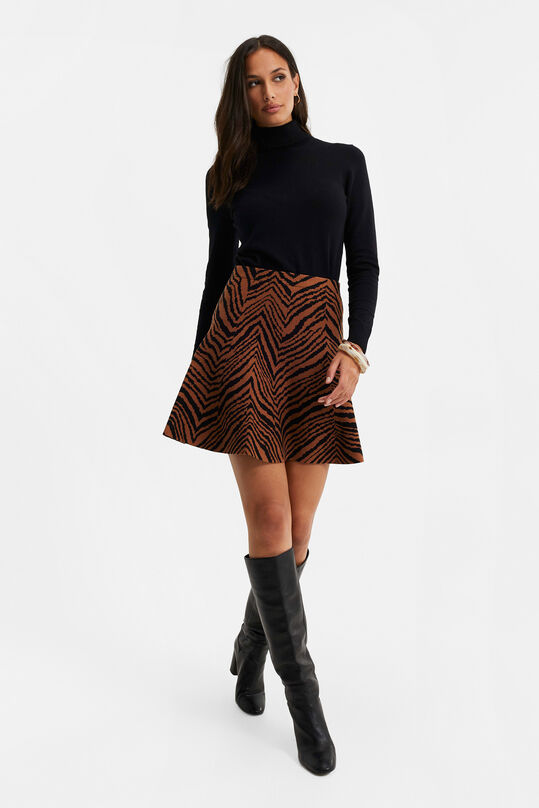 Dames rok met jacquard dessin All-over print