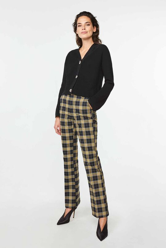 Dames high waist flared broek All-over print