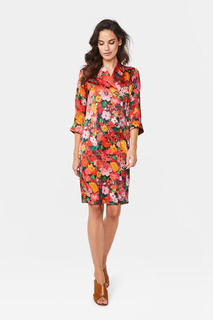 Dames bloemendessin jurk All-over print