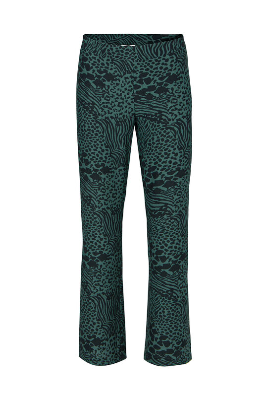 Dames relaxed fit pantalon met dierenprint All-over print