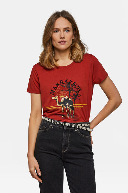 Dames Marrakech dessin T-shirt Rood