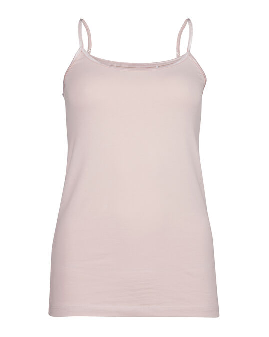 Dames organic cotton singlet Roze