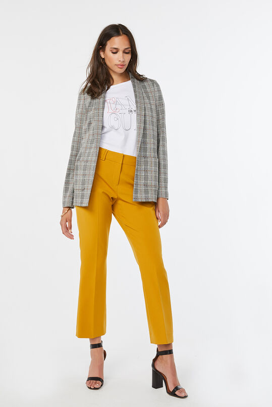 Dames regular fit blazer Donkergrijs
