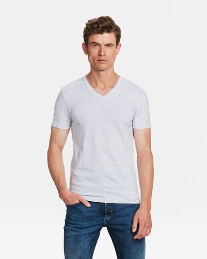 HEREN ORGANIC COTTON T-SHIRT Gebroken wit