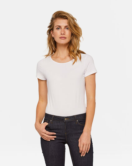 DAMES ORGANIC COTTON T-SHIRT Wit