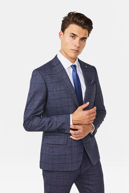 Heren regular fit blazer Stayton Marineblauw