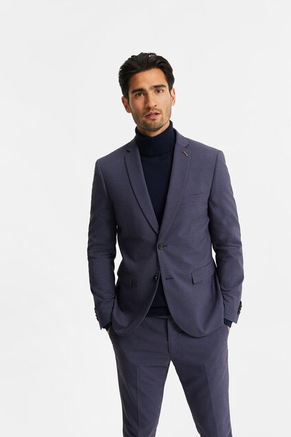 Heren slim fit blazer met ruitdessin, Wallace Multikleur