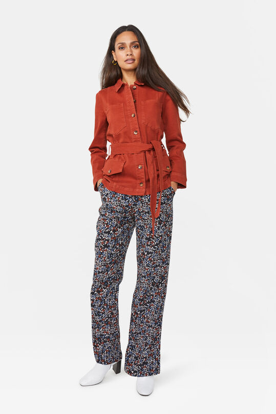 Dames bloemendessin loose fit broek Multikleur