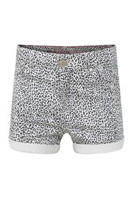 Meisjes denim short met dessin_Meisjes denim short met dessin, All-over print