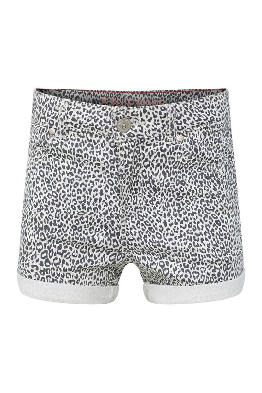 Meisjes denim short met dessin All-over print