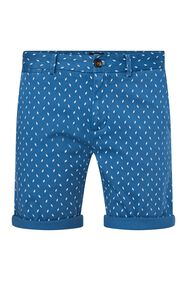Heren chinoshort met stretch en dessin_Heren chinoshort met stretch en dessin, All-over print