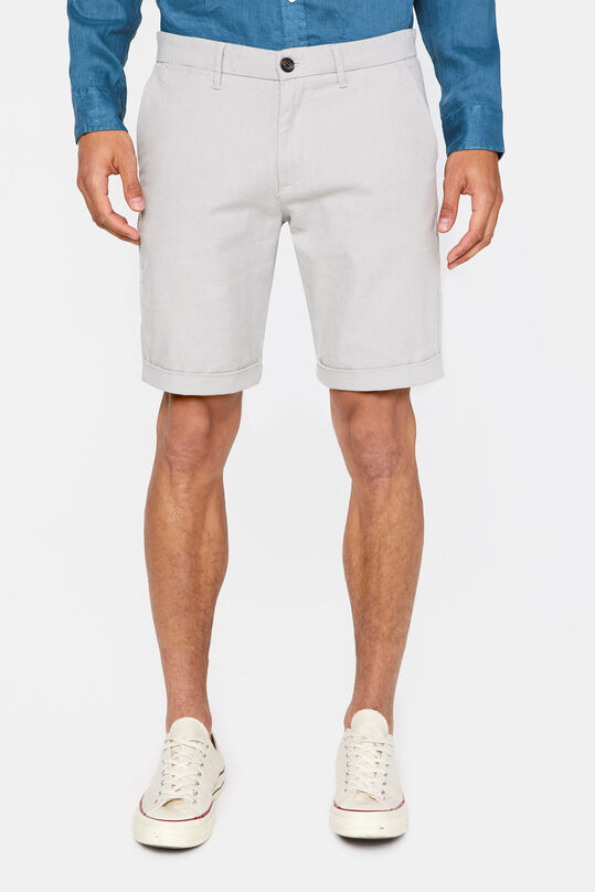 Heren slim fit chinoshort met stretch Lichtgrijs