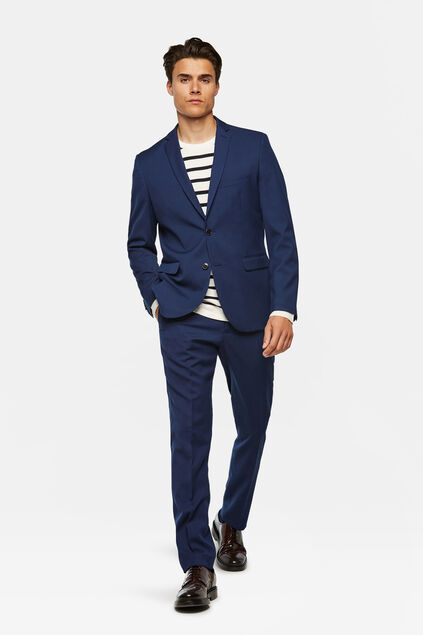 Heren regular fit blazer, Dali Kobaltblauw