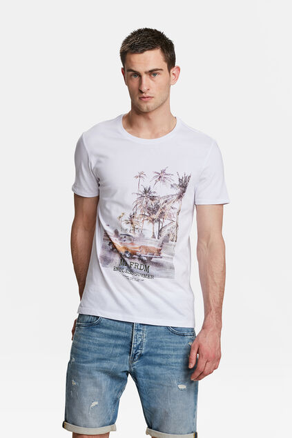 HEREN MR. FREEDOM PRINT T-SHIRT Wit