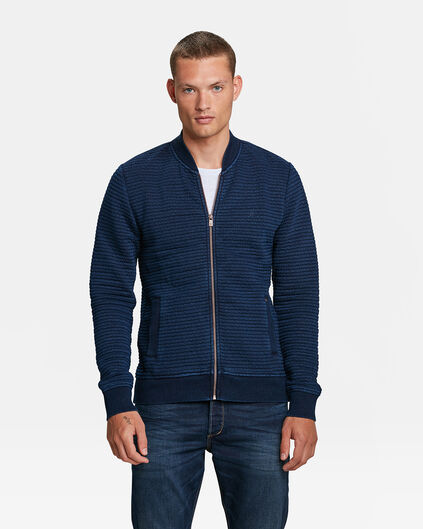 HEREN BLUE RIDGE INDIGO SWEATVEST Marineblauw